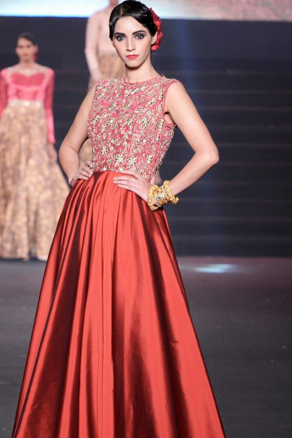 Red Floor Length Dress / Gown