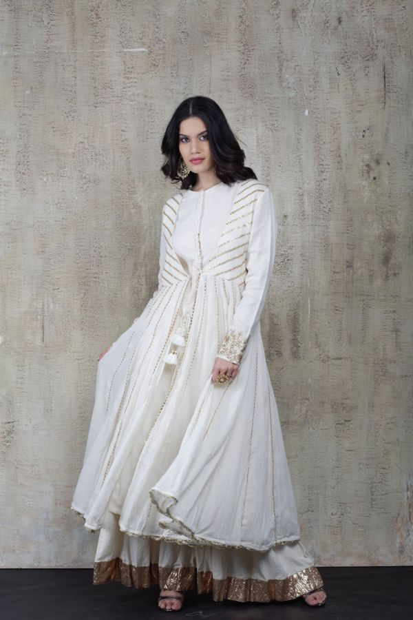 White Cape with Kalidar and Pant
